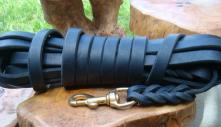 Hand-Made  English Clayton's Leather Dog Tracking Line